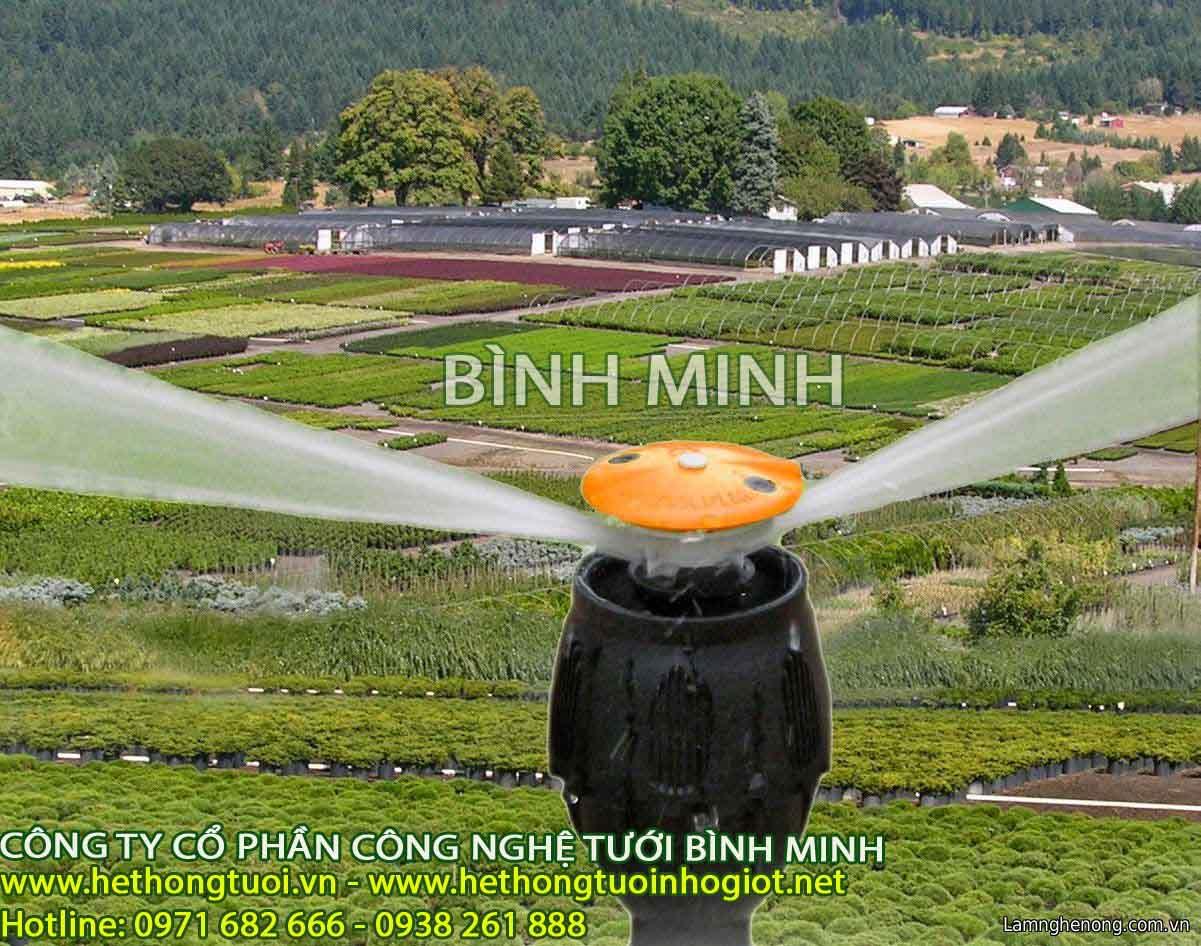 Béc tưới phun mưa tại Ninh Bình – Tư vấn, cung cấp, lắp đặt