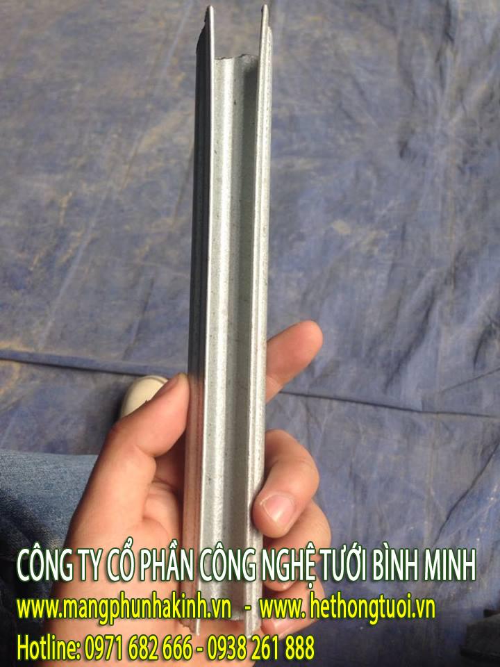 phụ kiện nhà kính, vật tư nhà kính, thanh nẹp zigzag cài màng, thanh nẹp C, thanh nẹp C, zigzag lo xo